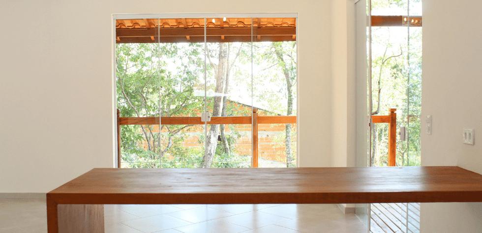 Casa estilo sobrado em Ilhabela balcao