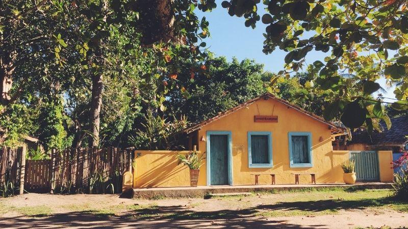 Casas de praia com cerquinha